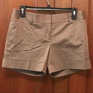 Express Cuffed Khaki Brown Shorts Size 2
